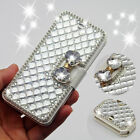 Luxury Bling bowknot Crystal Diamond Wallet Flip Case Cover For Samsung Galaxy