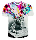 Galaxy multicolor Women Men 3D T-shirt Thinker printed funny fashion tee hiphop