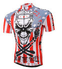 Men Cycling Biking Jerseys Skull Bicycle Sportwear Jerseys Short Sleeve Jacket
