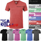 Tri Blend V Neck T Shirt Short Sleeve Slim Fit Casual Plain Tee Shirts Top Mens image