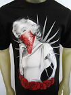 Marilyn Monroe Roses Tattoos gangster Diamond short sleeve men's tee shirt