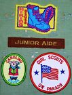 Girl Scout Patches Badge Junior Aide On Parade Hiking choice multi color GSA new