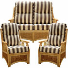 GILDA NEW CANE SUITE CUSHIONS / COVERS CONSERVATORY WICKER RATTAN FURNITURE