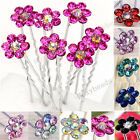 10p Multi-color Rhinestone Flower Wedding Bridal Hairpin Hair Clip Accessory HOT