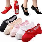 Kids Soft Comfortable Child Canvas Split Ballet Dance Shoes Slippers US 9-12.5