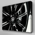 Cars081 Bentley Black Wheel Rim Canvas Art Ready to Hang Picture Print