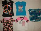 NEW JUSTICE GIRLS SIZE 7 8 10 12 14 GRAPHIC PRINT T-SHIRTS/CROP TOP CHOOSE ONE