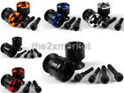 10mm Carbon Fiber Swingarm Sliders Spools For KAWASAKI ZX6R/ZX6RR/636 1998-2012