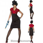 CL461 Womens 1920s 20s Gangster Costume Ladies Chicago Flapper Era Fancy Dress