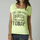 Fox Racing Womens/Juniors LIVE FOR TODAY Short Sleeve Top T Shirt Day Glo Green