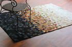 bunkar's Handmade Natural Cowhide Leather Modern Area Rugs - Bueno