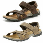 Mens Clarks Vextor Run Tobacco Or Mahogany Leather Casual Sandals
