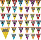 8m / 26FT LARGE HOLOGRAPHIC BUNTING BIRTHDAY PARTY DECORATIONS PARTIES