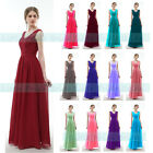 A-Line V-Neck Lacy Floor-length Chiffon Bridesmaid Dress With 6-22 (JS52)