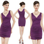 Ever Pretty Women Sexy Veck Stretchy Mini Cocktail Party Dress 03395