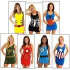 Female Superhero Costumes Adult Group Halloween Fancy Dress