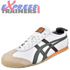 Onitsuka Tiger Mens Mexico 66 Vintage Leather Trainers White Olive * AUTHENTIC *