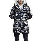 Man Chic Concealed Zip-Up Hook Closure Front Winter Padded Jacket