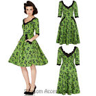 RKV28 Voodoo Vixen Katnis Kitty Cats Dress 50's Vintage Rockabilly Pin Up Retro