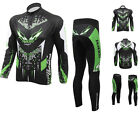 Men's Long Sleeve T-shirt Shirt Bicycle Riding Top Cycling Jersey + Pants S-4XL