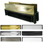 300mm 12 Inch Letterbox with Anti Snap 180 Degree Opening Flap -Various Finishes