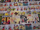 POPEYE COMIC STRIPS--men's tieback- OR bouffant -SCRUB HAT/ MEDICAL /SURGICAL
