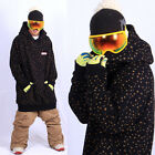 New arrival December long tall hoodie ski snowboard-CACAO BLACK