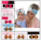 2Pcs Baby Mom Hair Band Bowknots Parent-child Headband Girl Headwear Accessories