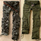 Military Women's Army Green /Camo Cargo Pocket Pants Leisure Outdoor Trousers NC
