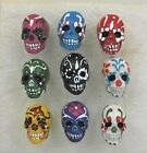 Day of Dead Skull Ceramic Beads, Assorted Colors, Choice of Lot Size & Price