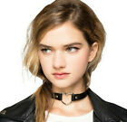 2015 new fashion Punk Goth Leather Rivet Heart Ring Collar Choker Funky Necklace