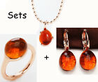 Beautiful Crystal Ring + Necklace+Earring Jewelry Sets For Friend