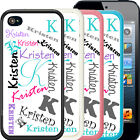 PERSONALIZED RUBBER CASE FOR iPHONE 8 7 6 5 5c SE PLUS NAME ALL OVER