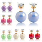 1 Pair Women Lady Fashion Chic Gradient color Ear Stud Earrings Jewerlry Gift