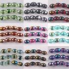 Wholesale 100Pcs Glasses Charm Multi-colors Oliver Shape Spacer Beads 6*8mm