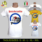 T-SHIRT UOMO/DONNA LAMBRETTA VINTAGE VESPA IS MY LIFE SO HAPPINESS - MEN/WOMAN