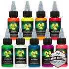 MOMs Millennium Nuclear UV Blacklight Tattoo Ink - 9 Color Set