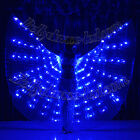 frm USA!LED isis wings glow show parade belly dance cabaret club wear prop blue