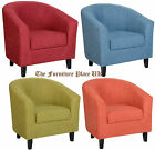 TEMPO TUB CHAIR NEW FABRIC COLOURS BLUE GREEN ORANGE RED - Free Delivery