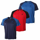Asics Essential Colourblock Short Sleeve Mens Running Fitness Shirt