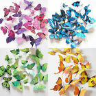 12PC 3D Butterfly Sticker Art Design Decal Wall Stickers Home Room Decor