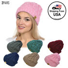 Basico Unisex Warm Chunky Soft Stretch Knit Slouch Cable Bea