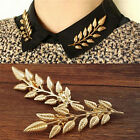 New Fashion Jewelry Broochs 2 Colors Vintage Leaf Shirt Collar Pins Brooches