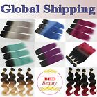 10A 1 Bundle Brazilian Hair Weft Remy Hair Ombre Hair Extension Piano T Color