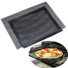Reusable Black Bake Mesh Sheet Picnic Fiberglass Pizza Cooking Grill Mat 27X32CM