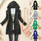 Womens Hooded Knitted Tops Long Sleeve Cardigan Sweater Jumper Coat Outwear Hot