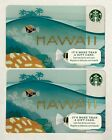 LOT OF (2) 2015 NEW Starbucks Hawaii Limited Edition Gift Card **JUST RELEASED**