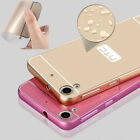 Luxury Metal Aluminum Bumper Phone Frame + PC Back Case Cover For HTC Desire 626