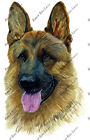 German Shepherd Dog Lover Home Office Room Camp Decor Decal Wall Art Sticker HD