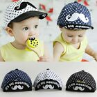 Cute Baby Toddler Kid girl Polka Dot Mustache Hat Cap  Beanie Photography Prop